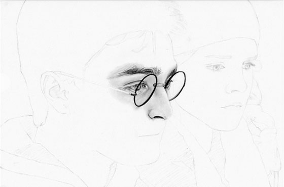 Portrait Harry Potter - étape 2