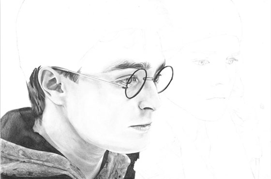 Portrait Harry Potter - étape 4