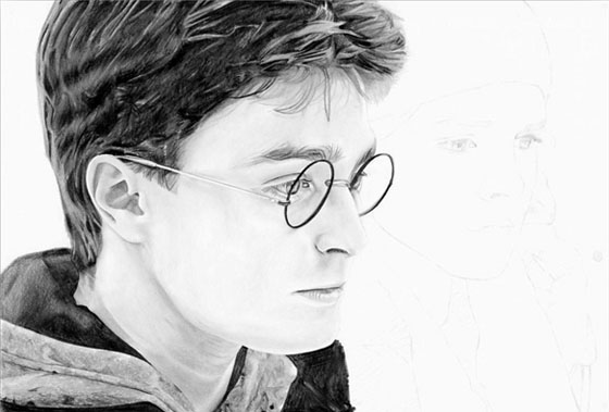 Portrait Harry Potter - étape 5