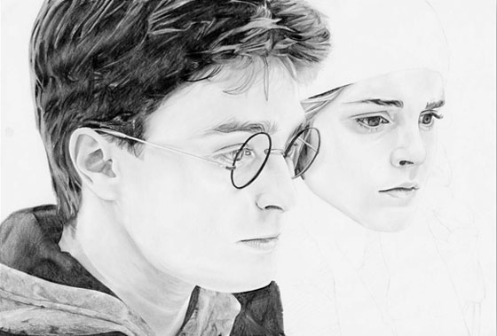 Portrait Harry Potter - étape 6