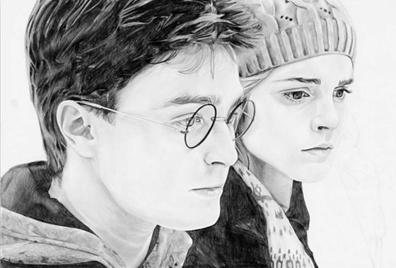 Portrait Harry Potter - étape 7