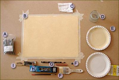 equipment for portrait sketch