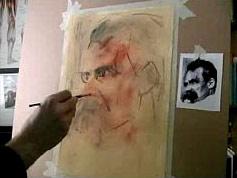 portrait sketching first stage
