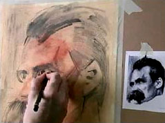 drawing people, eyes, iris, pupil, tear duct, nietzsche block in - third stage